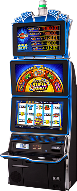Quick Hit Super Wheel Wild Blue Cabinet