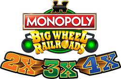 MONOPOLY Big Wheel RailRoads - 2x3x4x Logo