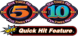 Quick Hit - 5x and 10x Pay Logo