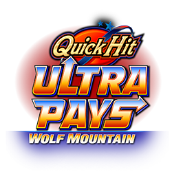 Quick Hit Ultra Pays Wolf Mountain Logo